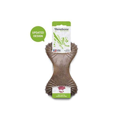 Diseño actualizado – Bacon Real Benebone Bacon para Masticar Perro Dental Juguete