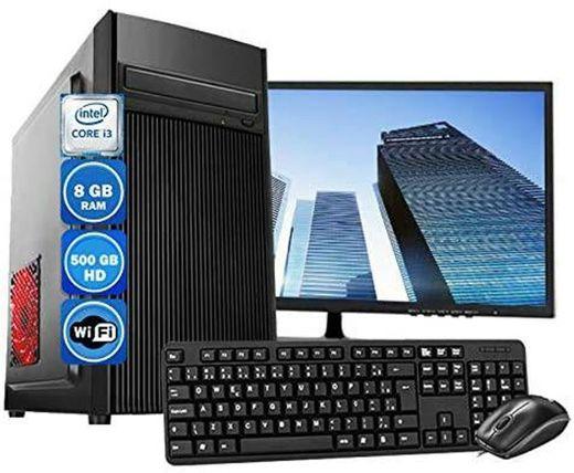 Computador Pc Completo Intel Core i3 8GB HD 500GB Wi
