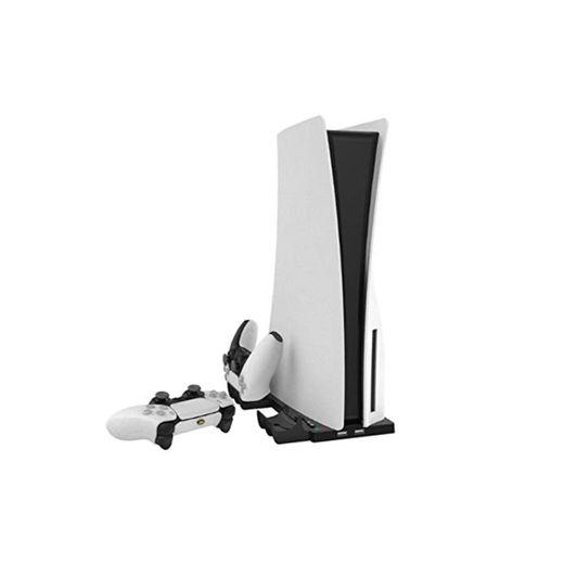 Ablerfly Soporte Vertical 2 en 1 para Consola PS5 Digital Edition