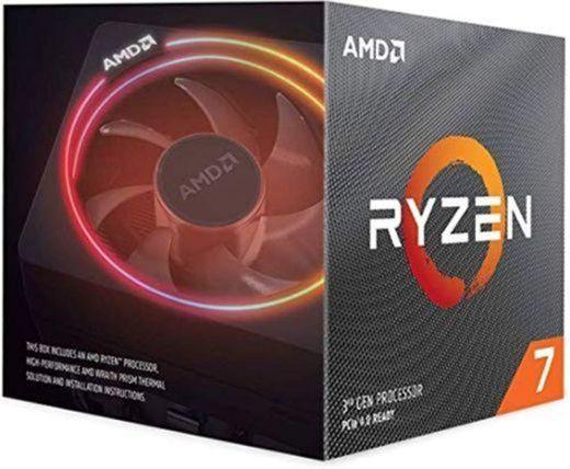 AMD Ryzen 7 3700X - Procesador con disipador de calor Wraith Prism