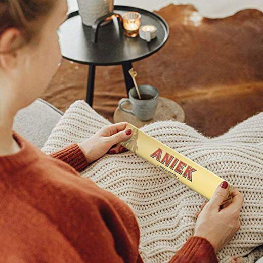 Toblerone personalizado con Nombre - Barra de Toblerone leche y chocolate, miel,
