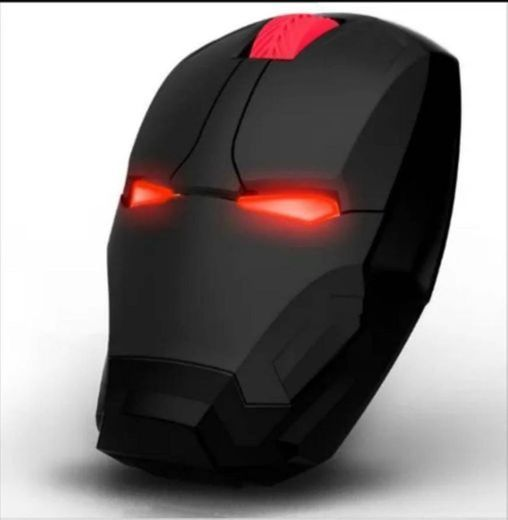 Mouse Inalámbrico De Juego Con Luz Led Y Diseño De Iron Man