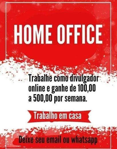 OPORTUNIDADE TRABALHO HOME OFFICE
