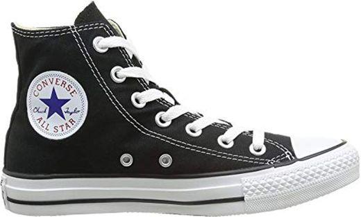 Converse Chuck Taylor All Star, Zapatillas altas Unisex adulto, Negro (Black), 38