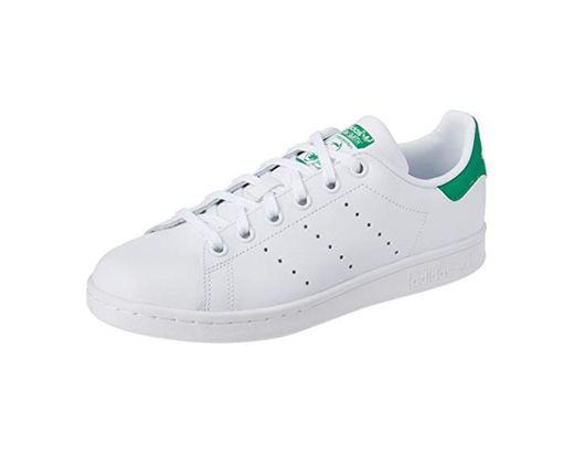 Adidas Stan Smith J - Zapatillas para Niño,Blanco