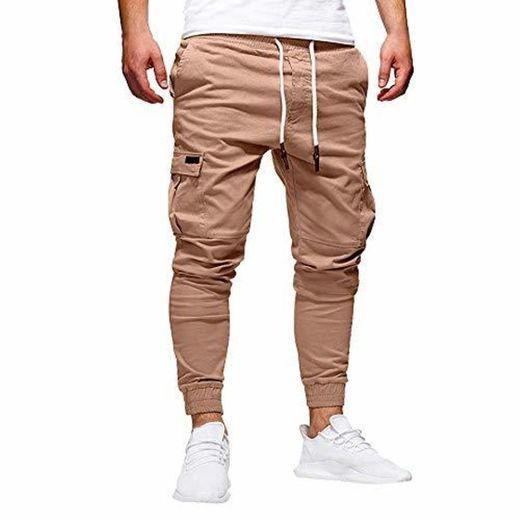 STRIR Pantalones de Hombre Casuales Deporte Joggers Pants Algodón Slim Fit Jeans