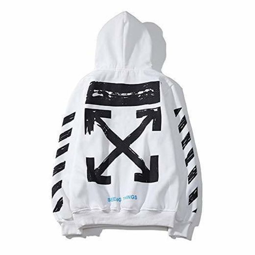 XCBW Off OW Logo Trendy Cotton Pullover - Sudadera para Hombre/Mujer -