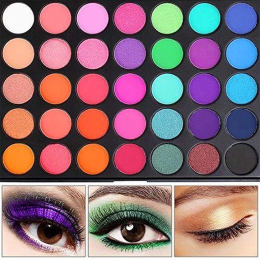 UCANBE BELLE 35 Colorido Maquillaje Sombra de Ojos Paleta de pigmentos Paleta