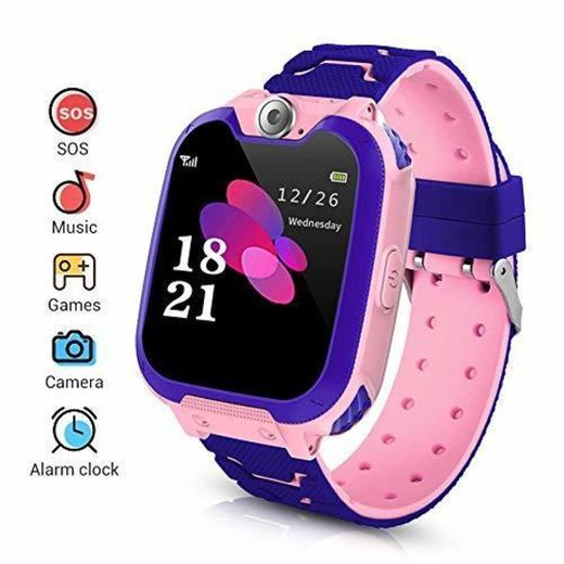 LYPULIGHT Niños Smartwatch Phone, Smart Watch Phone con Reproductor de música, SOS,