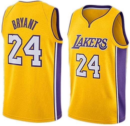 WOLFIRE SC Camiseta de Baloncesto para Hombre, NBA, Los Angeles Lakers #8#24