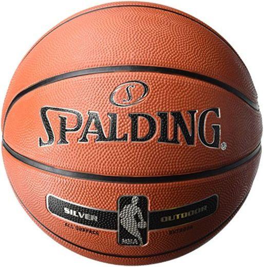 Spalding NBA Silver Outdoor 83-494Z Balón de Baloncesto