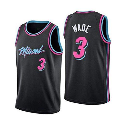 JINHAO Camiseta de Baloncesto para Hombre NBA Miami Heat # 3 Dwyane