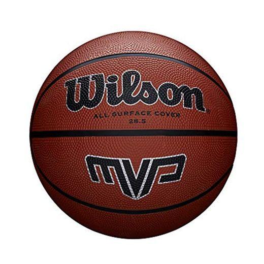 Wilson MVP - Balón, color Naranja/ Negro, tamaño