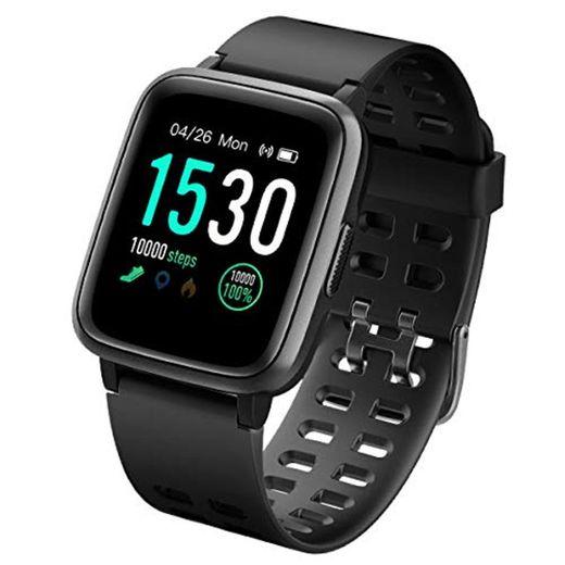 LATEC Pulsera Actividad Reloj Inteligente Impermeable IP68 Smartwatch Pantalla Táctil Completa con