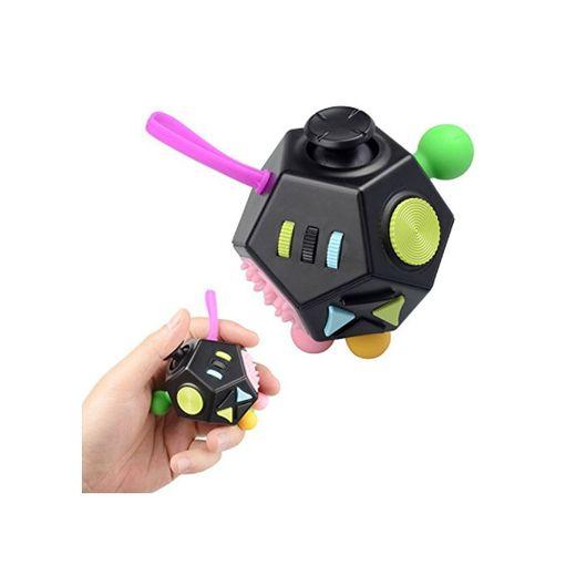 Juguete Antiestrés Stress Cube, Jim'S Store 12 Lados Cubo de Descompresión Juguete