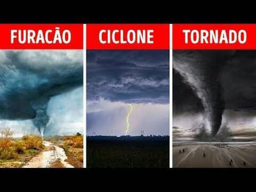 Ciclone, Tufão e Furacão!