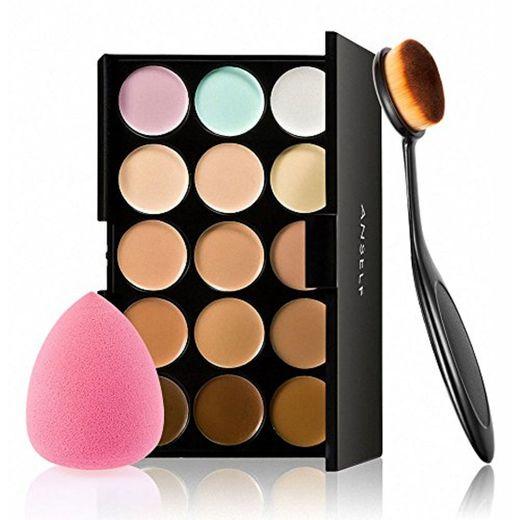 Anself - Set de Paleta de Corrector de Maquillaje 15 Colores
