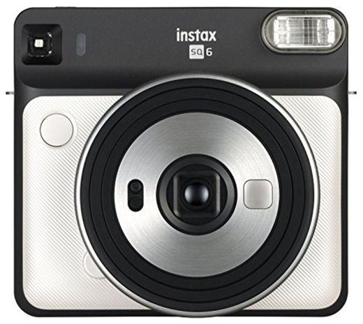 Fujifilm Instax SQ6 - Cámara analógica instantánea Formato Cuadrado, Color Blanco