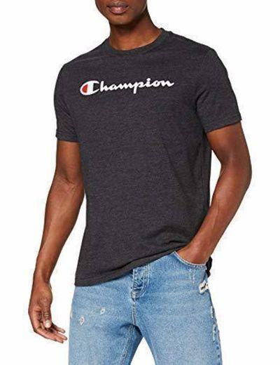 Champion Classic Logo para Hombre Camiseta, Negro