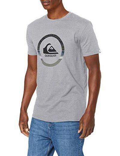 Quiksilver Snake Dreams T-Shirt Men Camiseta de Manga Corta, Hombre, Gris
