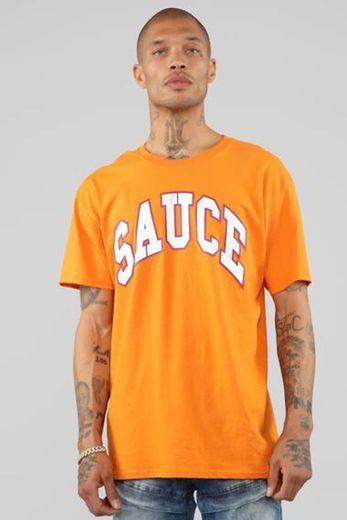 Sauce Short Sleeve Tee - Orange/White – Fashion Nova