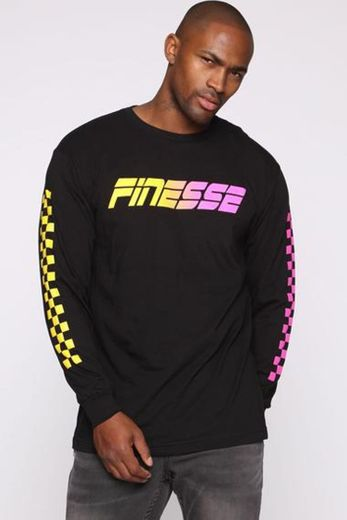Keep Finessin Long Sleeve Tee - Black/combo – Fashion Nova