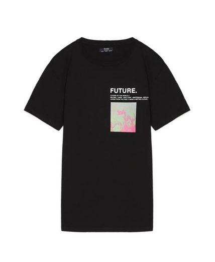 T-shirt com estampado - T-Shirts - Bershka Portugal