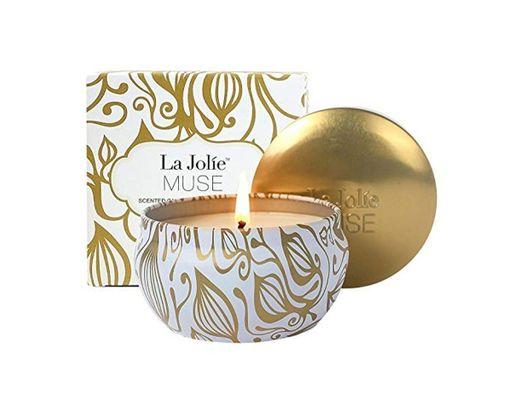 La Jolíe Muse Velas perfumadas de Coco y Vainilla 100% Soja Aromaterapia