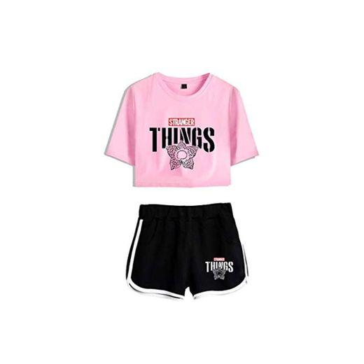 Memoryee Stranger Things imprimiendo Camisetas y Shorts Tops de Ropa Traje de