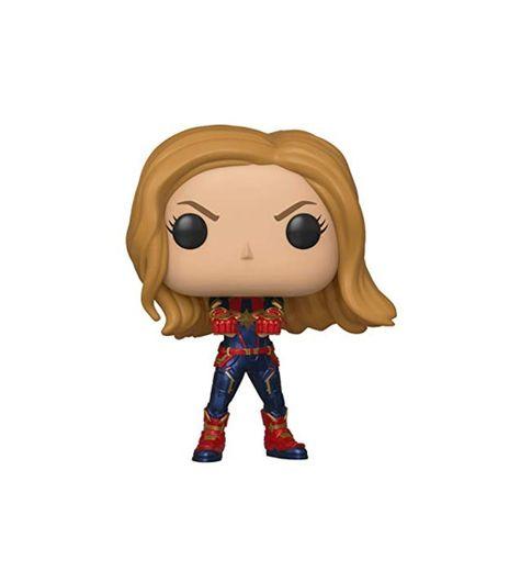 Funko- Pop Bobble: Avengers Endgame: Captain Marvel Capitana Collectible Figure, Multicolor, Estándar