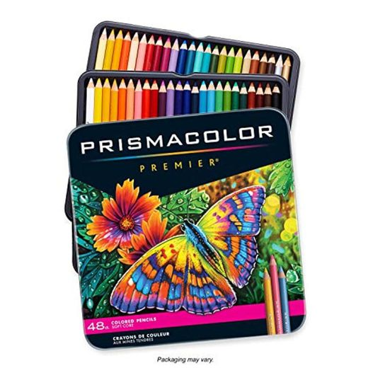 Prismacolor Premier color matita impostato 48/Tin-W/due Bonus Artstix