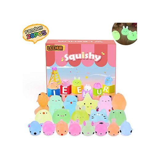 Mini Squishy Fluorescentes Kawaii Squishys Lindos Juguete Suave de Alivio de Estrés,