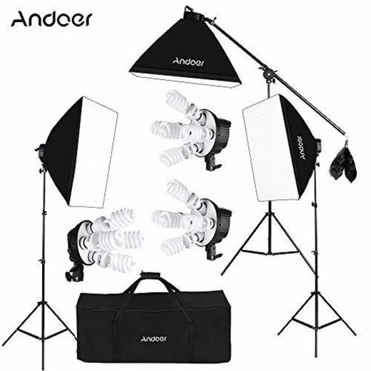 Andoer Softbox Kit de Iluminación para Photo Studio Video,