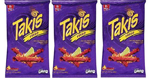 BARCEL Takis Fuego - Tortilla Chips - Papitas de Maíz Sabor Chile