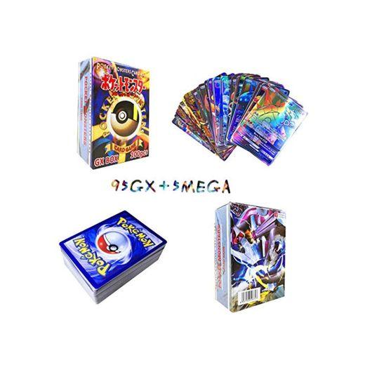 Sinwind 100 Piezas Pokemon Cartas, Tarjetas de Pokemon, Pokemon Trading Cards, Juego