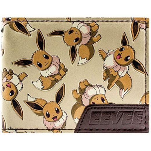 Cartera de Pokemon Eevee 133 Carácter múltiple marrón