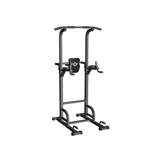 Sportsroyals Power Tower Dip Station Pull Up Bar for Home Gym Strength