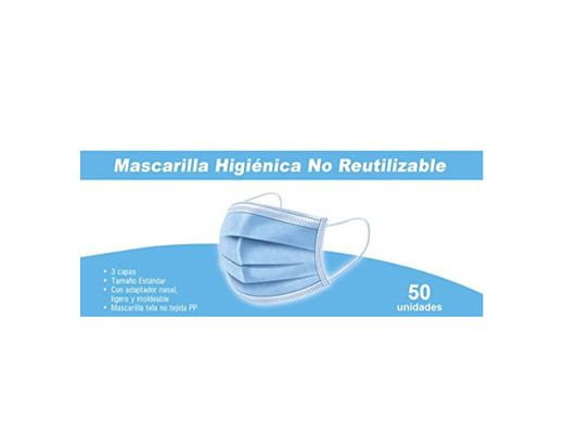 Mascarillas Higiénicas Desechables, 3 Capas