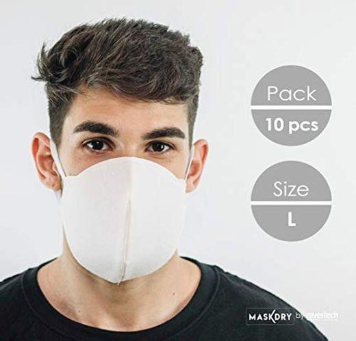 Pack 10 mascarillas higiénicas lavables 2 gomas
