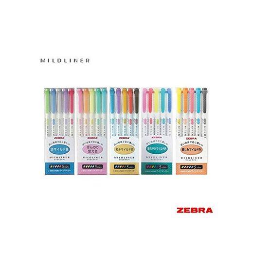 Zebra Mildliner - Juego completo de 25 colores