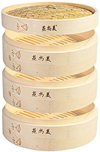 Hcooker 3 Capas de Cocina Cesta de Vapor de Bambú para Cocinar