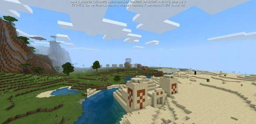 Outpost Pillager en Aldea + Piramide