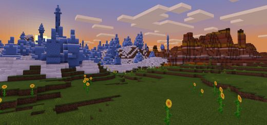 Ice Spike/Eroded Badlands/Sunflower Plains at Spawn With Villages ...