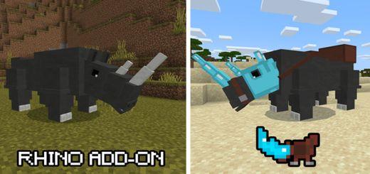 Rhino Add-on | Minecraft PE Mods & Addons