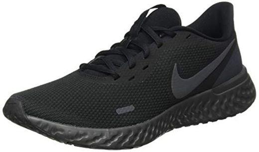 Nike Revolution 5, Zapatillas de Atletismo para Hombre, Negro/Antracita