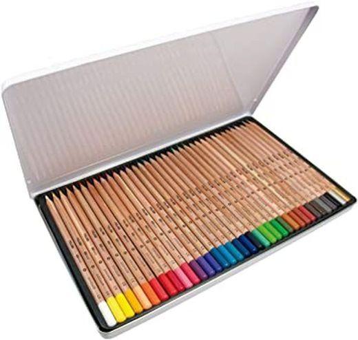 Caja metálica 36 lápices de colores con mina grande Ø3