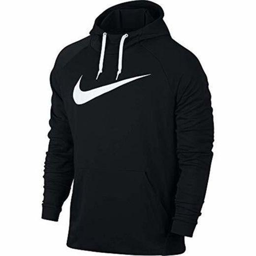 Nike Dry Pull Over Swoosh Sudadera, Hombre, Negro