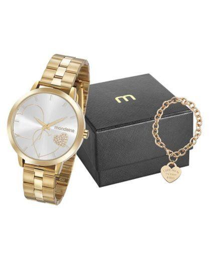 Kit Relógio Feminino Mondaine + Bijuteria