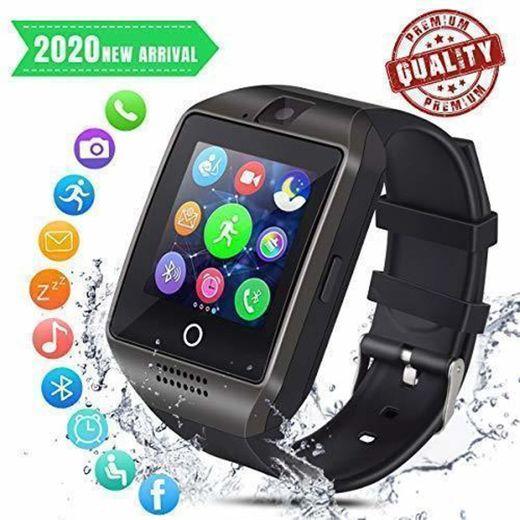 Smartwatch Bluetooth Hombre Reloj Inteligente con Whatsapp Smartwatches con Cámara Pantalla Táctil