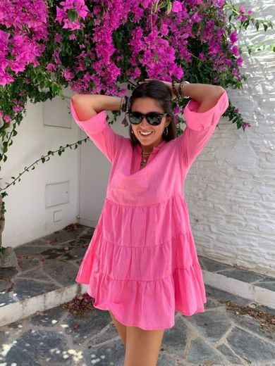 Loavies pink a-line dress